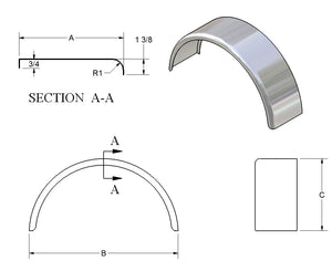 Single Radius Single Fender - 6400 Series