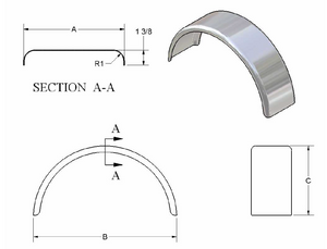 Double Radius Single Fender - 6600 Series