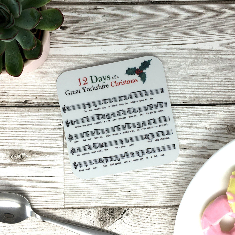 Yorkshire Funny 12 Days of Christmas Coaster