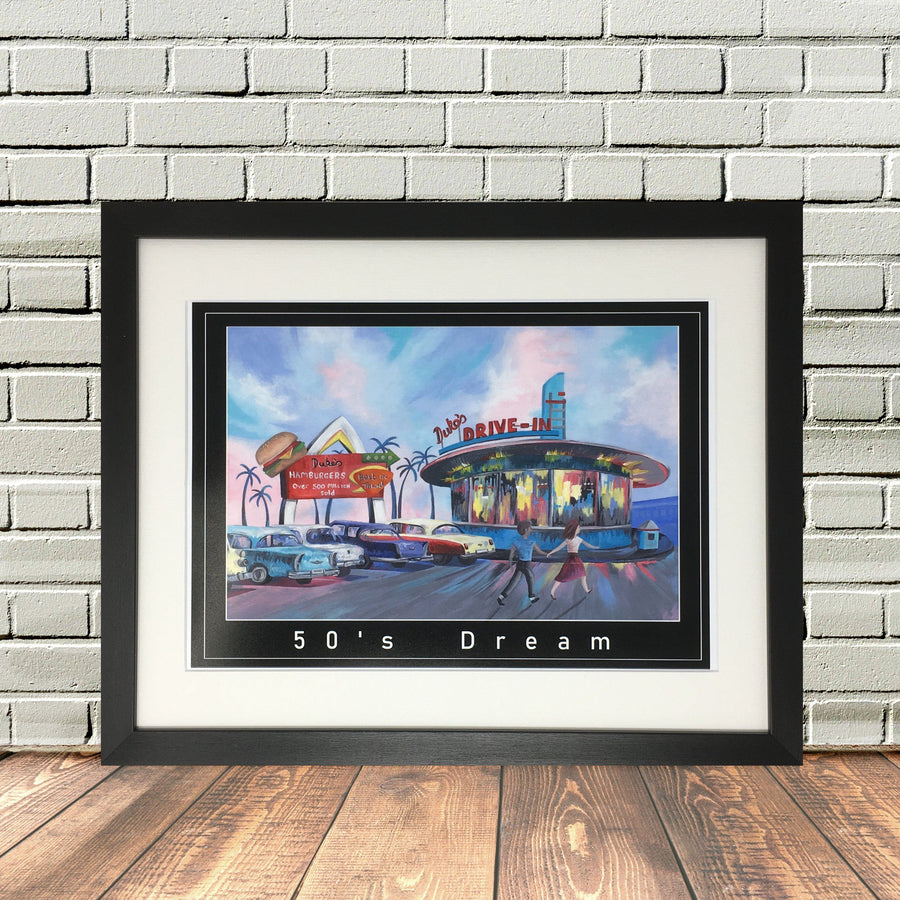 1950 Diner Painting Print