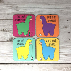 Set of 4 Alpaca Coasters