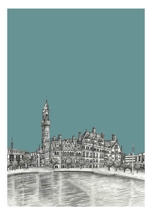 Personalised Bradford City Yorkshire Print
