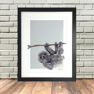 Baby Sloth Print Nursery By Lighthouse Lane