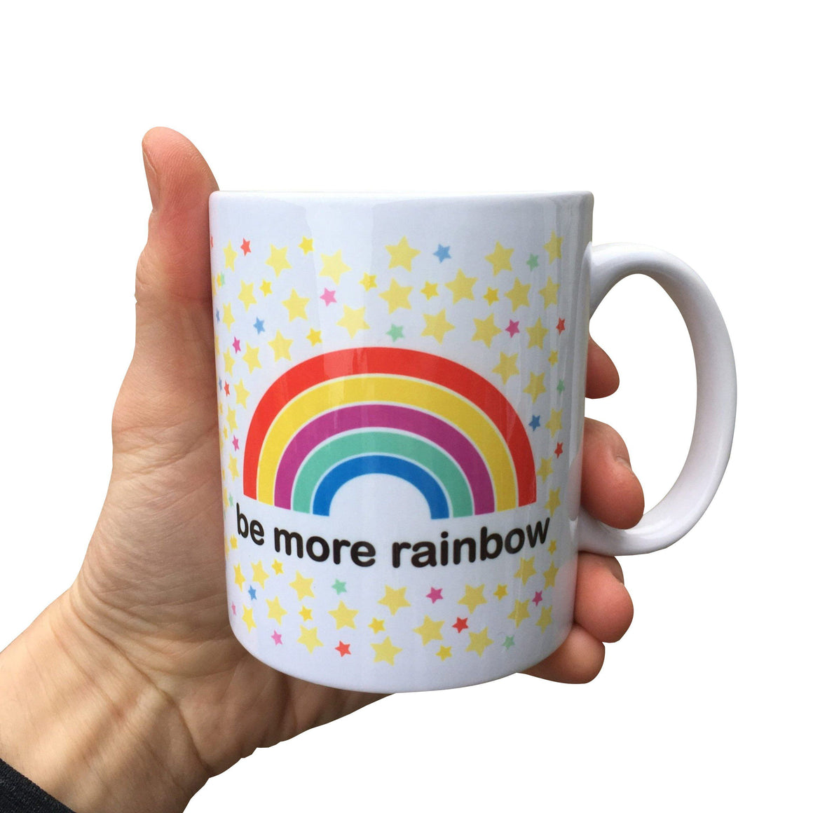 Be More Rainbow Mug (Can be personalised)