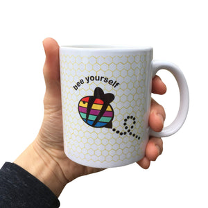 Bee Yourself Rainbow Mug