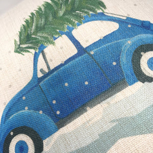 Beetle Classic Car Christmas Cushion (Can be personalised)