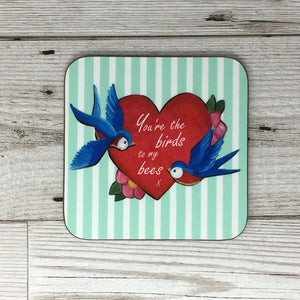 Birds and Bees Coaster