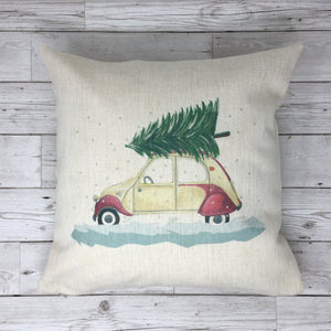 White Citroen CV Cushion Pillow