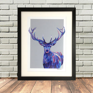 Colourful Stag Painting by Lighthouse Lane