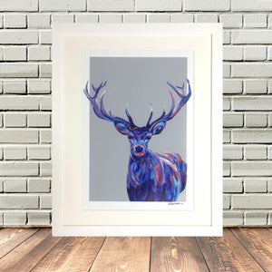 Colorful Stag Print By Lighthouse Lane Haworth