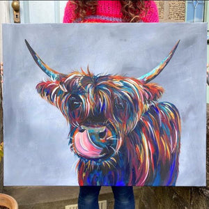 Highland Cow Cheeky Print
