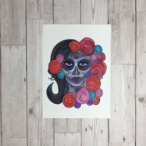 Day of The Dead Painting Original Artwork