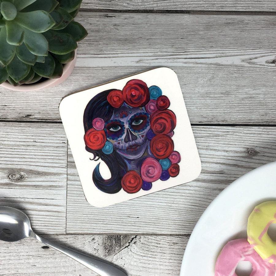 Painted Day of The Dead Mug
