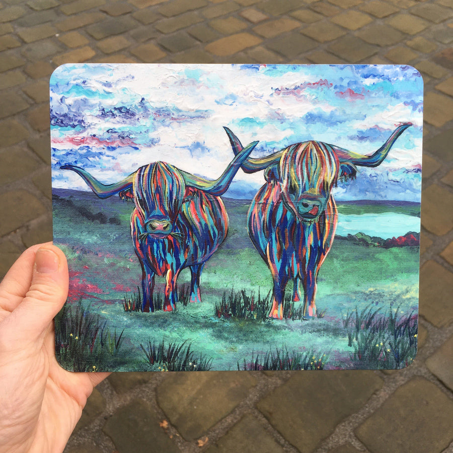 Double Highland Cows Placemat