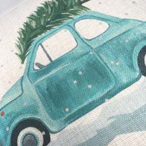 Fiat 500 Classic Car Winter Cushion (Can be personalised)