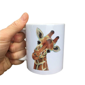 Painted Giraffe Mug (Can be personalised)