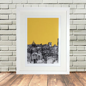 Harrogate North Yorkshire Sketch Print