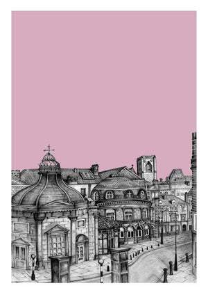 Personalised Harrogate Yorkshire Print