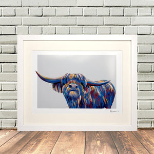 Colourful Highland Cow Print