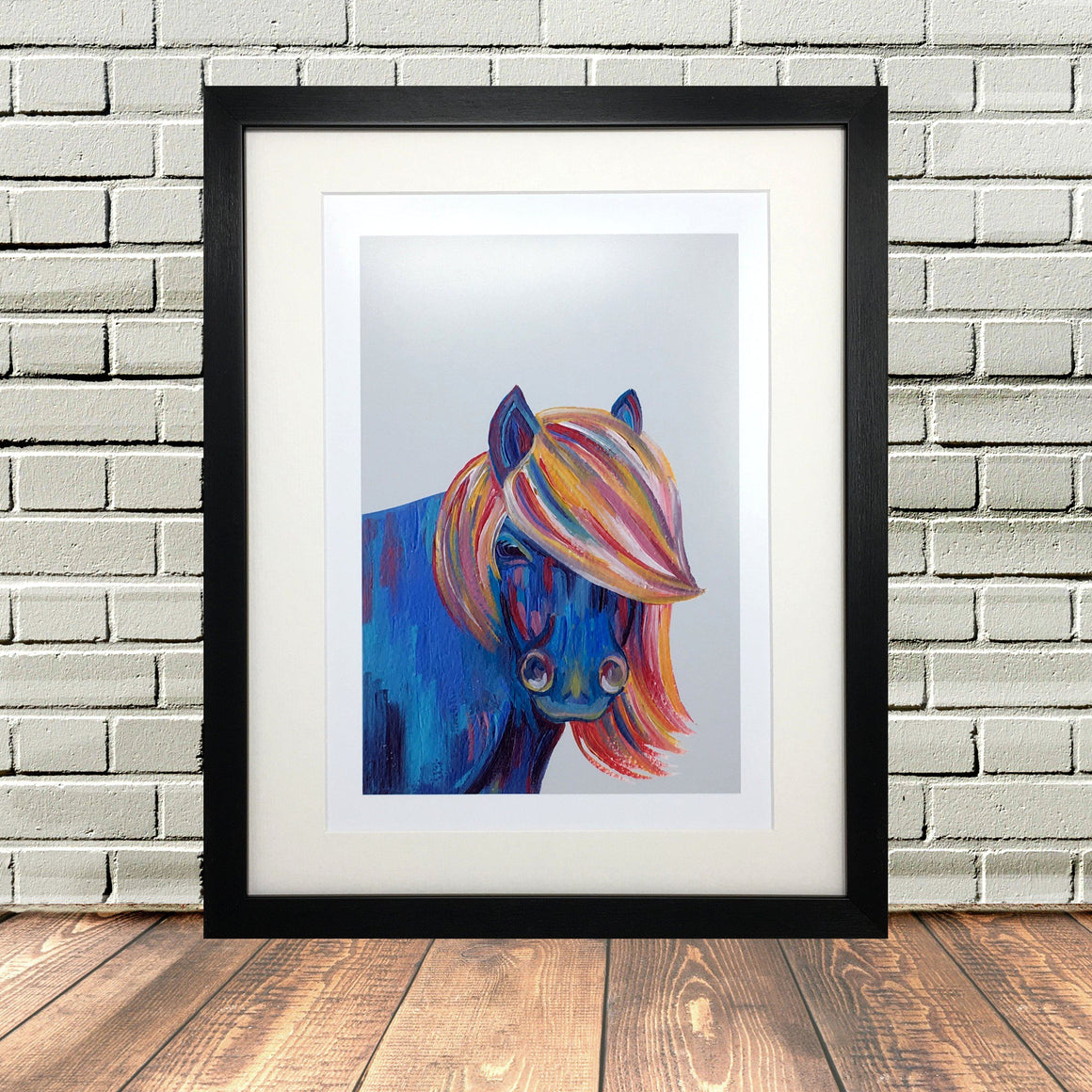 Colourful Shetland Pony Painting Print