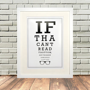 Yorkshire Optician Eyetest Print