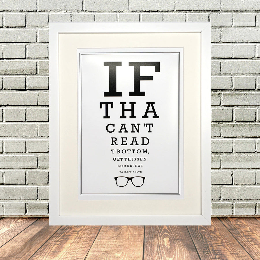 Funny Yorkshire Optician Eyetest Print
