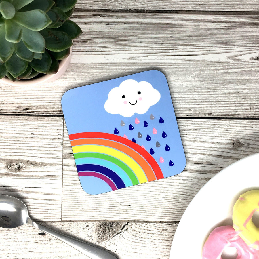 Rainbow Kawaii Cute Coaster