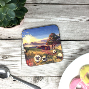 Top Withens Sheep Haworth Coaster