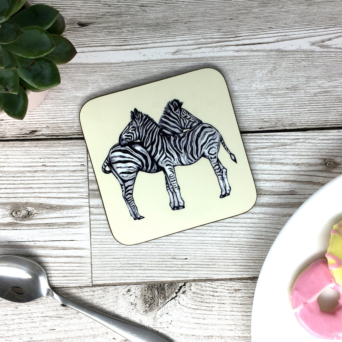Zebra Sketched Coaster - 2 Colours