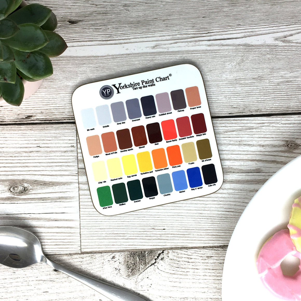 Funny Yorkshire Gift 'Paint Coaster'