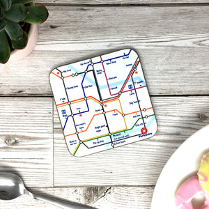 Funny Yorkshire Gift 'Tube Coaster'