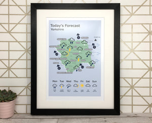 Funny Yorkshire Print 'Weather'