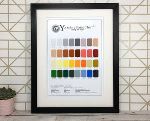 Funny Yorkshire Print 'Paint Chart'