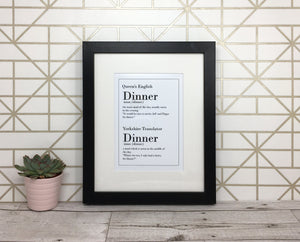 Funny Yorkshire Print 'Dinner'