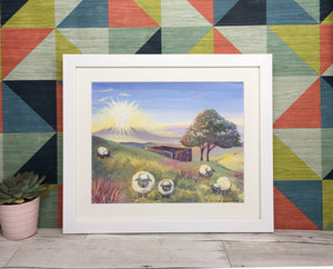 Haworth Sheep Framed print