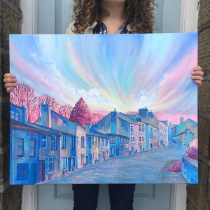 Haworth Main Street Winter Original Artwork