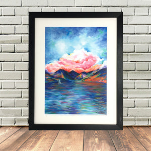 Lake District Wastwater Scarfell Pike Print
