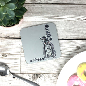 Ring tailed Lemur Painting Coaster
