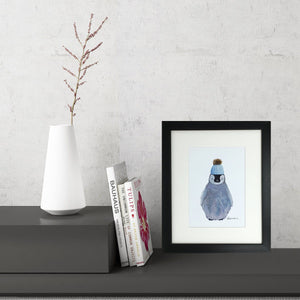 Baby Penguin (Small Framed Print)