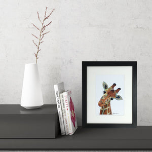 Colourful Giraffe (Small Framed Print)