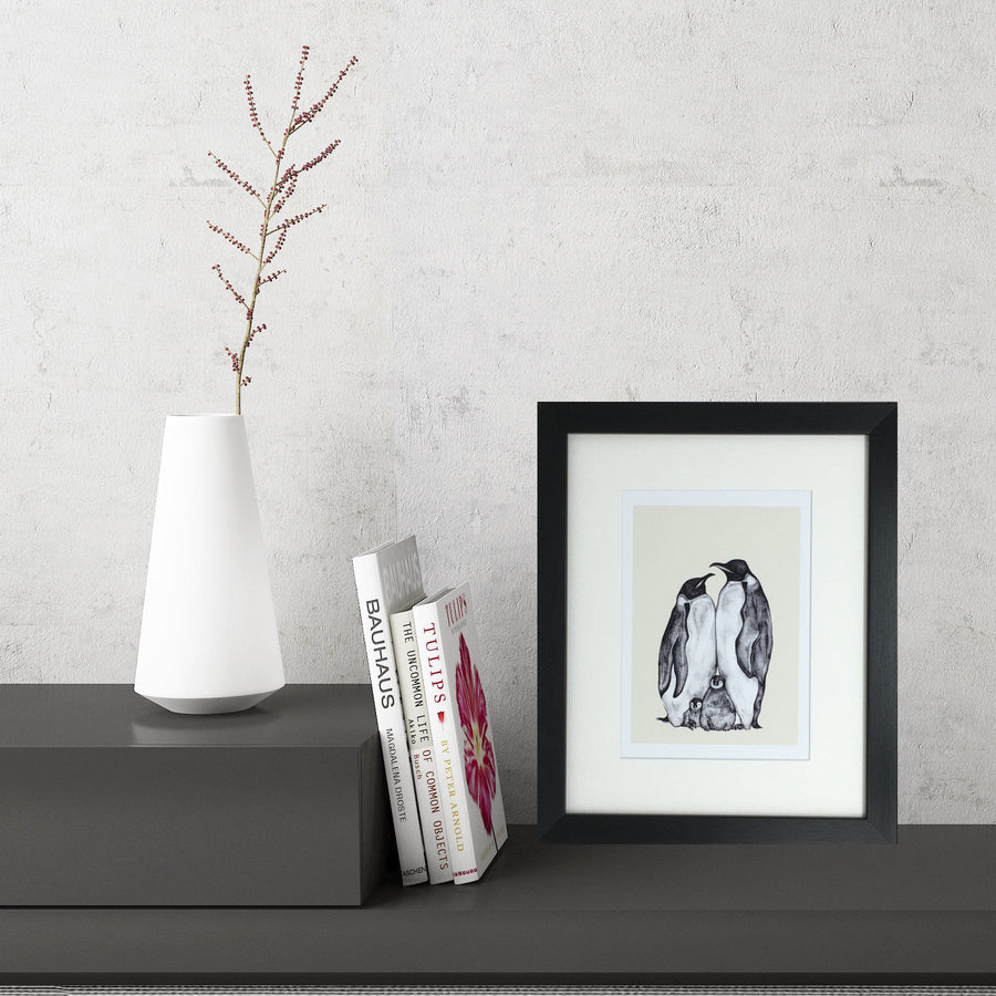 Penguin Family (Small Framed Print)