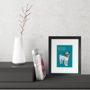 Pug Dog (Small Framed Print)