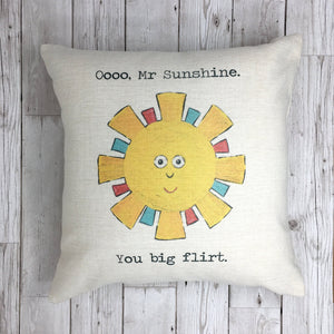 Mr Sunshine Funny Weather Cushion