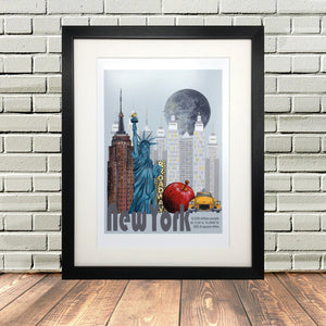 New York Painting Print