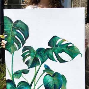 painting Monstera