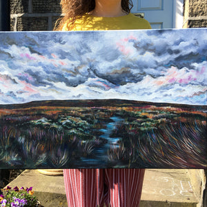 Stormy Sky Moorland Painting