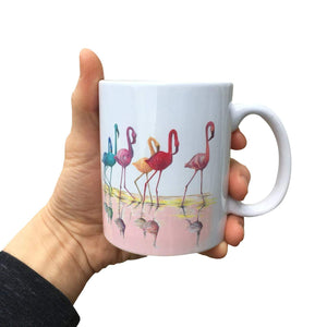 Painted Flamingo Mug