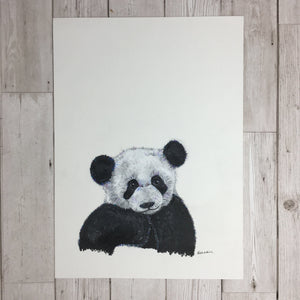 Panda Painting Original Artwork