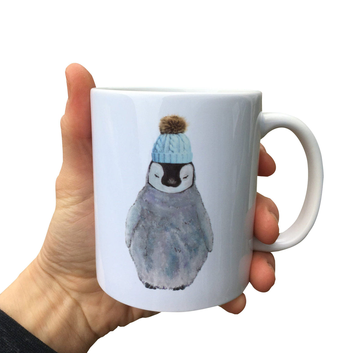 Painted Penguin Mug (Can be personalised)