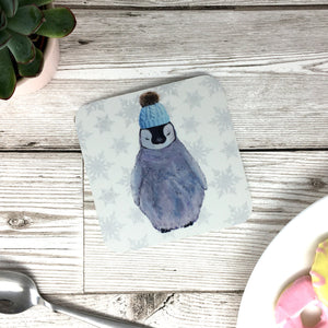 Baby Penguin in Hat Coaster